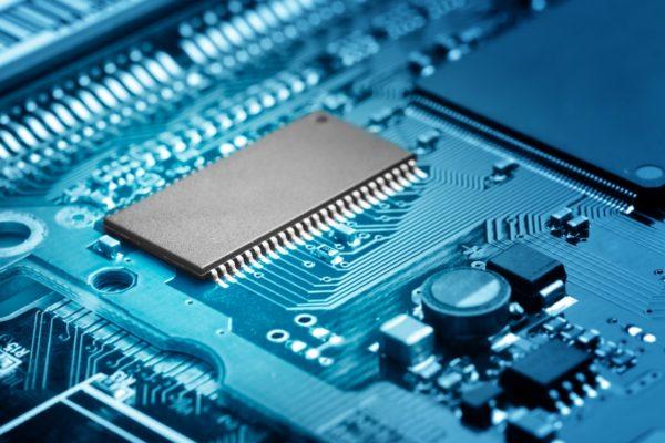 Microprocessor closeup