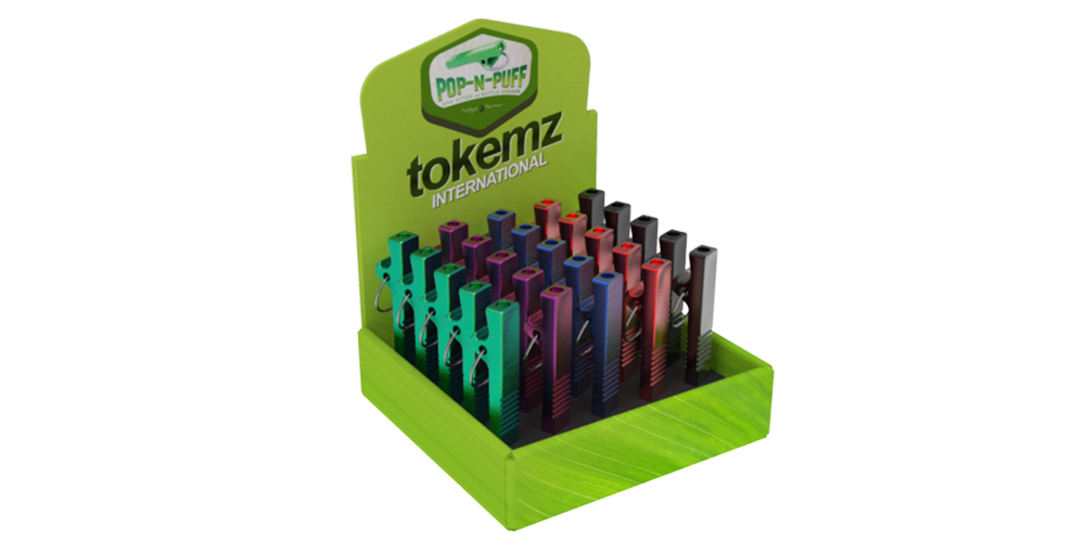 tokemz manufactured novelty smoking product set in packaging