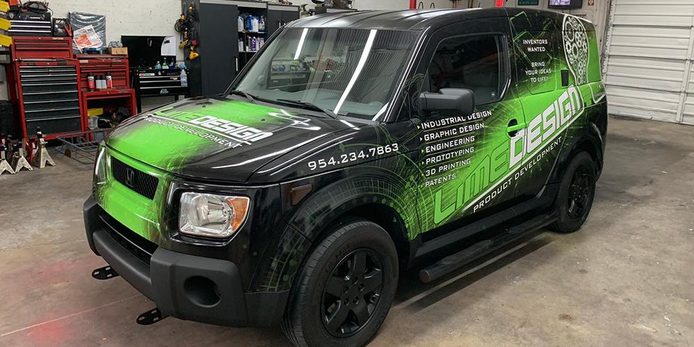 Lime Design Custom graphic design car wrap south florida