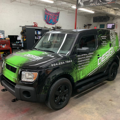 Lime Design Custom graphic design car wrap south florida