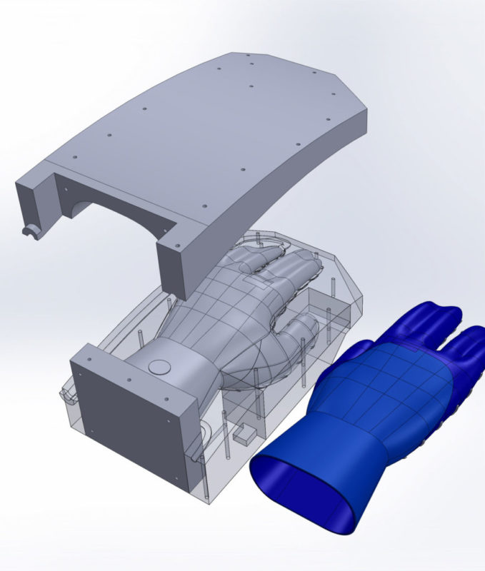 Magnefuse BBQ glove 3D CAD model of product