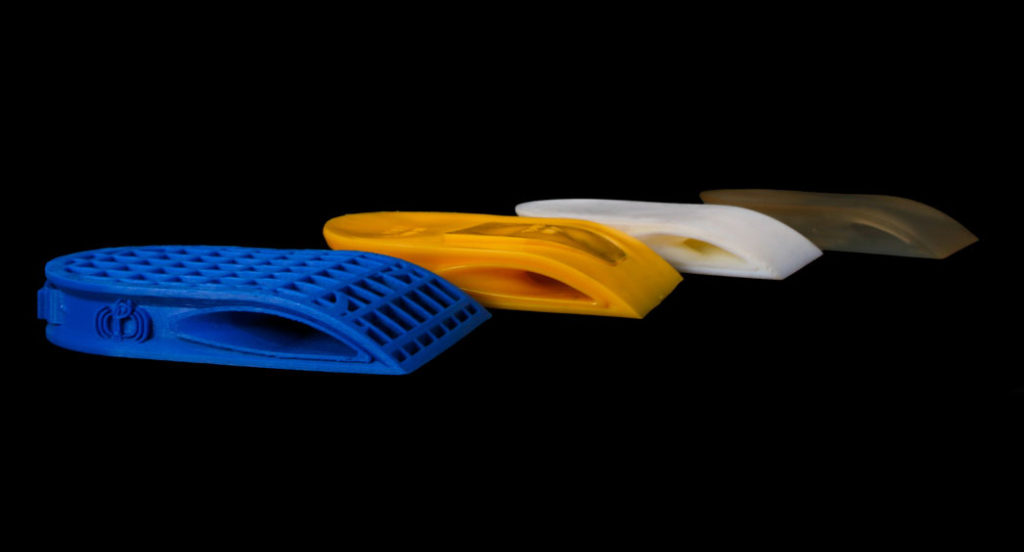 3D printed smartphone accessory shoe prototypes