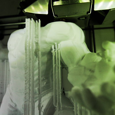 3D printing Incredible Hulk in ABS plastic in south florida design office