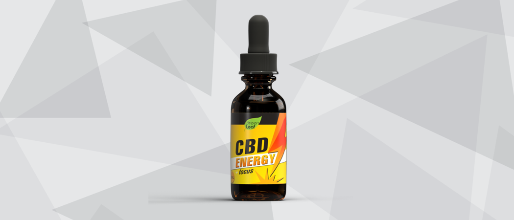 CBD focus energy bottle 3D rendered product