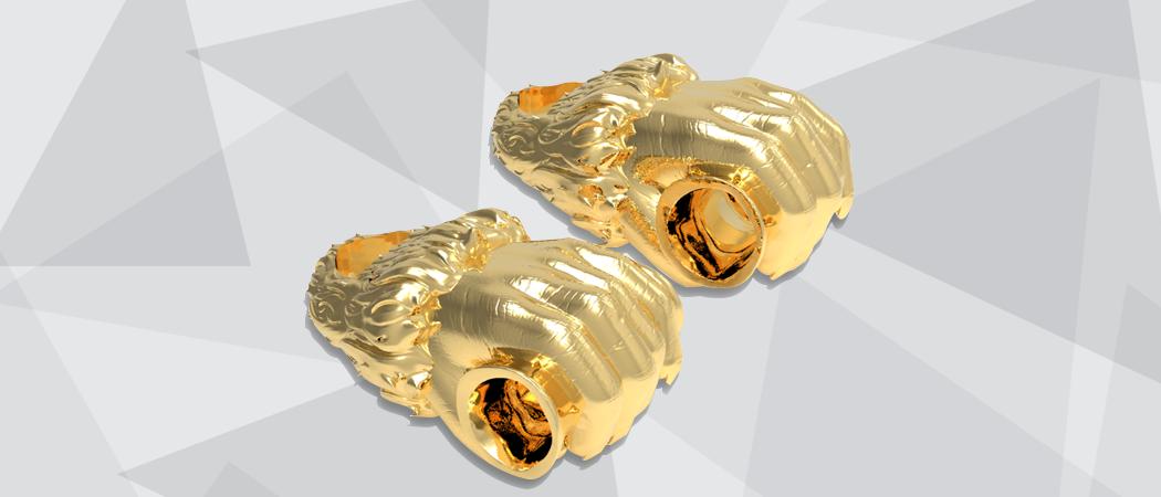 3D rendered gorilla hand novelty smoking product design prototype
