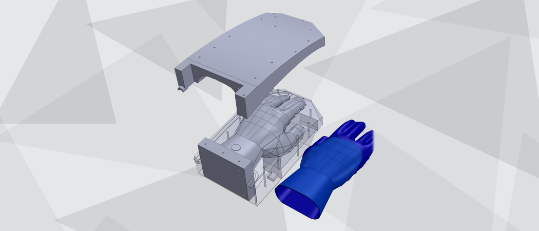 Mechanical Engineering 3D CAD Model of a bbg glove product