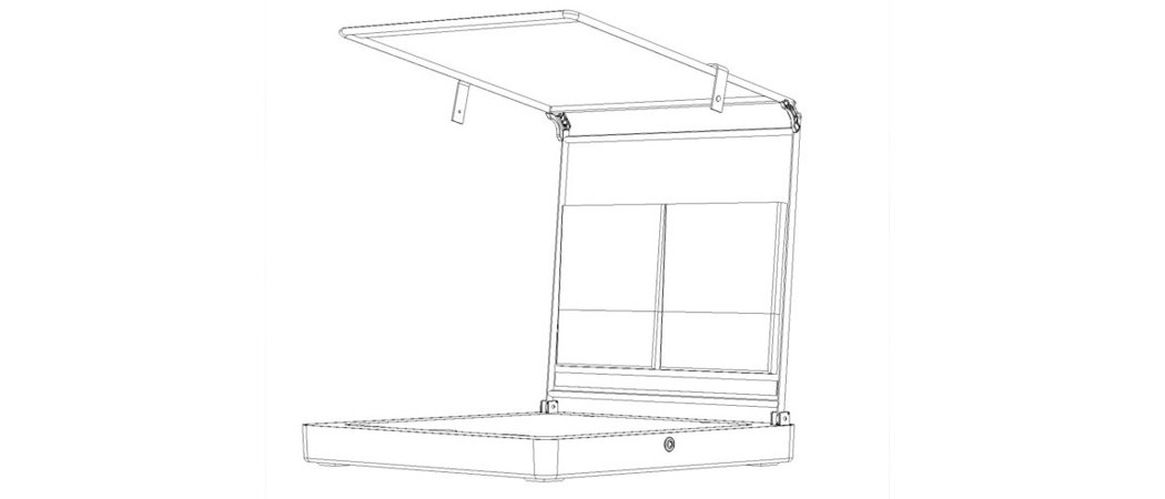 cocktail cabana patent protection product drawing