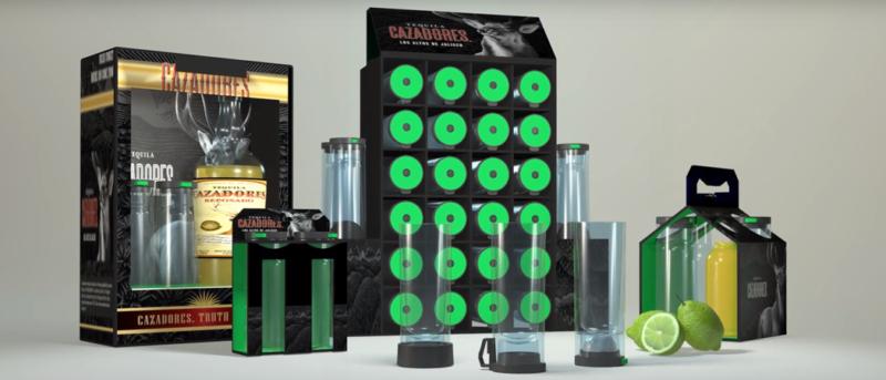 Salt Shot novelty drinking product design 3D model packaging render